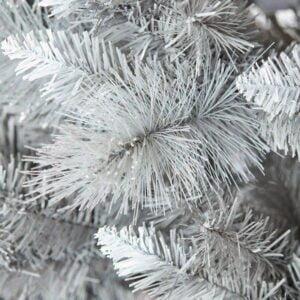 Brad artificial argintiu, efect zapada, 183 cm