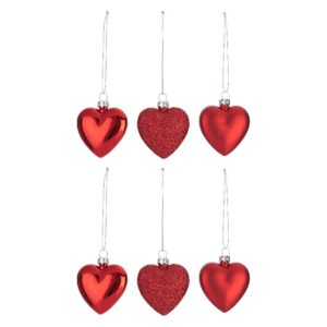 Set 6 Globuri  Albastre Forma Inima
