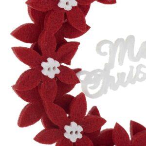 Decoratiune Florala de Craciun Rosie