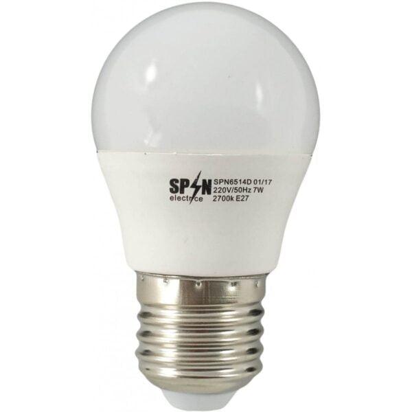 Bec Bl Led Sferic E27 7W 220V 2700K G45 Lumina Calda