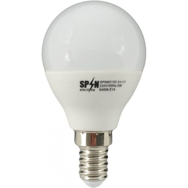 led-ieftin.ro Bec Bl Led Sferic E14 7W 220V 6400K G45 Lumina Rece
