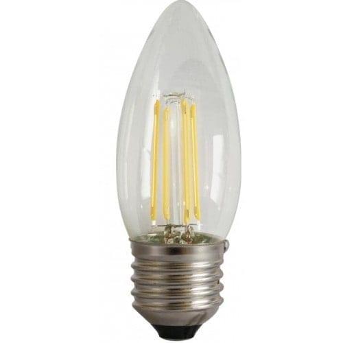 led-ieftin.ro Bec Lumanare Filament LED E27 4W 480Lm 220V 4000K