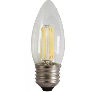 led-ieftin.ro Bec Lumanare Filament LED E27 4W 480Lm 220V 6500K