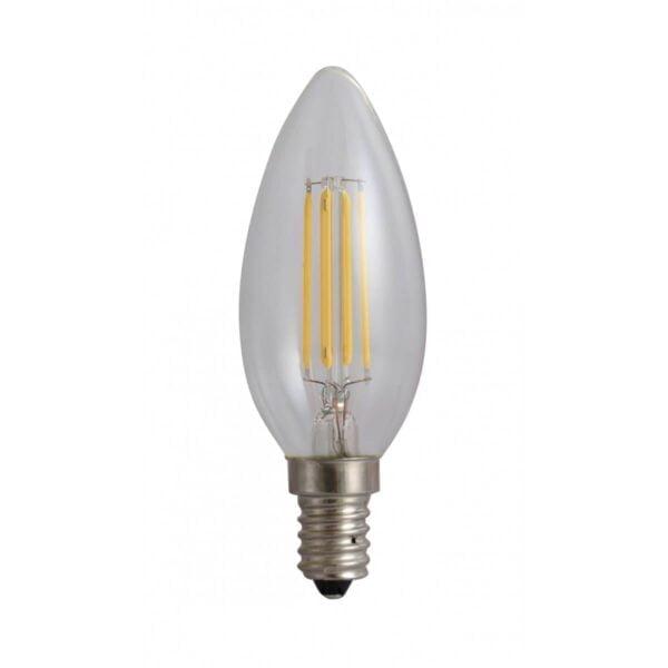 led-ieftin.ro Bec Lumanare Filament LED E14 4W 220V 3000K