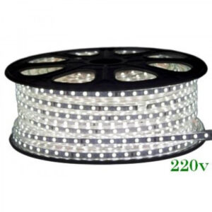 Banda LED 220V 6400K 12W/m Ip65 120Led/M 3014