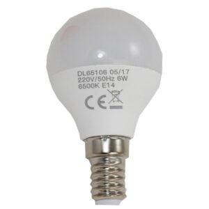 led-ieftin.ro Bec Led Sferic E14 6W 220V 6500K G45 Lumina Rece