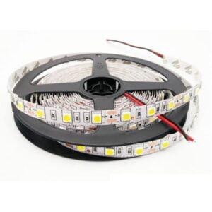 Banda LED 12V 14.4W/M 60LED/M IP20 R5050 6400K 5ML Dimensiune - 5 metri liniari Lumina Rece