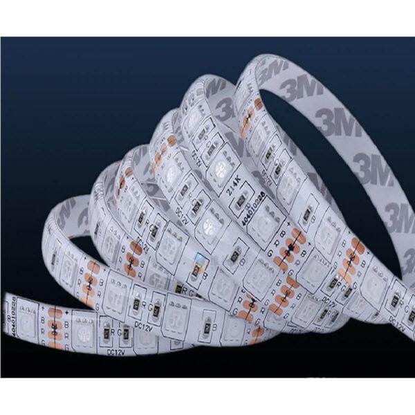 Banda LED RGB IP65 12V 14.4W/M 60 LED/M 5050 - Rola 5 m