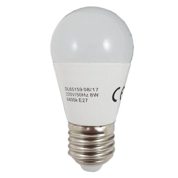 led-ieftin.ro Bec Led Sferic E27 8W 220V 6400K G45 Lumina Rece