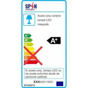 Spot LED Rotund Slim Incastrabil Ø180 24W 4100K