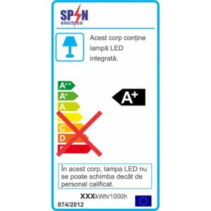 Spot LED Rotund Slim Incastrabil Ø300 40W 3000K