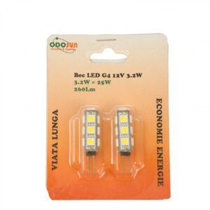 Set 2 Bucati Bec LED G4 3.2W 12V 2700K