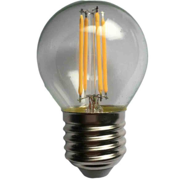 led-ieftin.ro Bec Sferic Filament LED E27 4W 220V 4000K