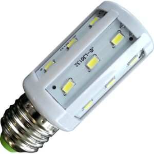 Bec LED 12V 5W E27 6400K Corn 360