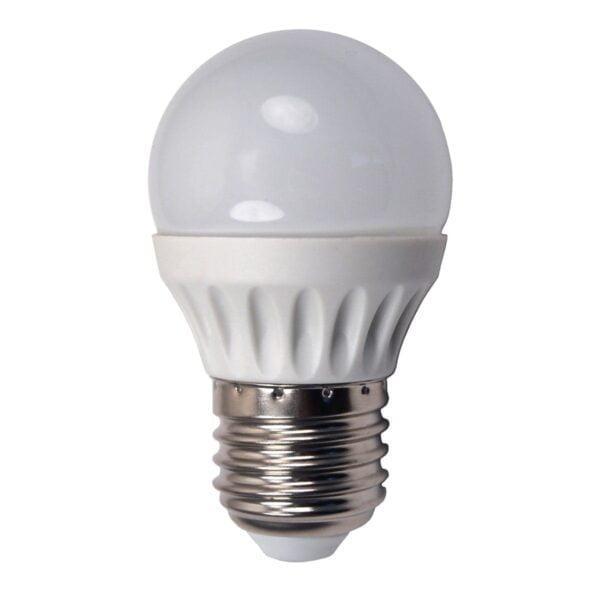 led-ieftin.ro Bec Led Sferic E27 5W 220V 2700K Lumina Calda