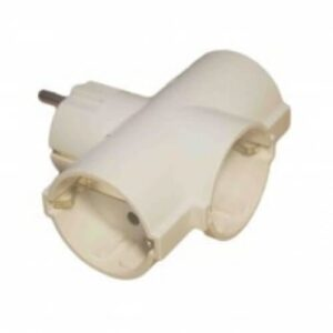 electro led Adaptor priza cu 3 cai culoare alb contact cupru plastic ignifug