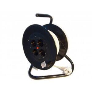 Prelungitor cu Derulator (ruleta) 4 Prize 25m 2X2.5 mm