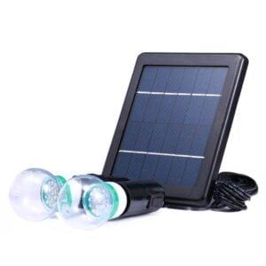 Kit de 2 becuri led 3W cu Panou Solar