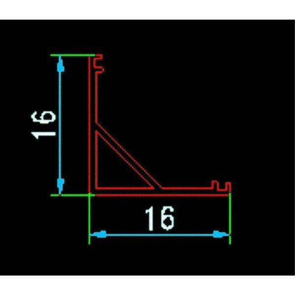Profil Aluminiu de Colt Pentru Banda LED 2ml