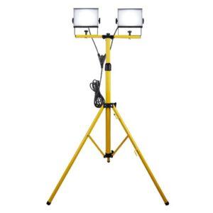 Proiector LED Dublu cu Trepied 1,1 - 1,68 m