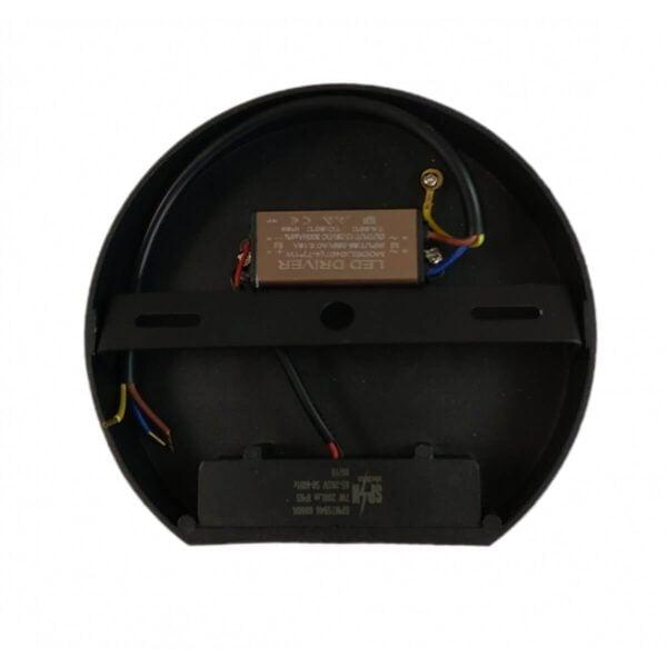 Aplica Neagra de Perete fi135 7W IP65 3000k
