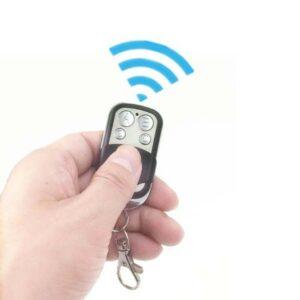 Intrerupator touch dublu + telecomanda RF sticla securizata alb
