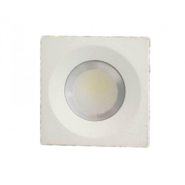 Spot LED Slim Patrat Incastrabil Mobila / Rigips 3W 3000K