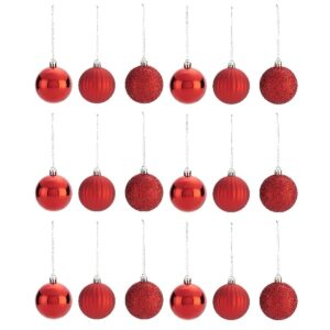 Set 18 Globuri Rosii fi 6 cm