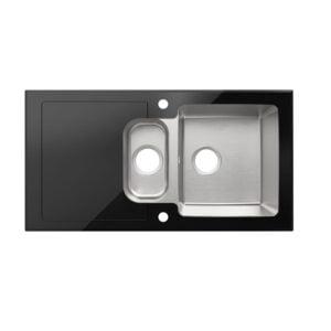 Chiuveta din inox Christianna, 95 x 50 cm, adancime 21 cm, 1.5 cuve