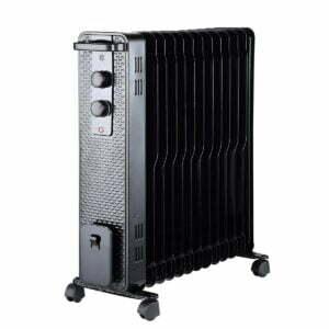 Radiator cu ulei, 13 elementi, putere 3000W, negru