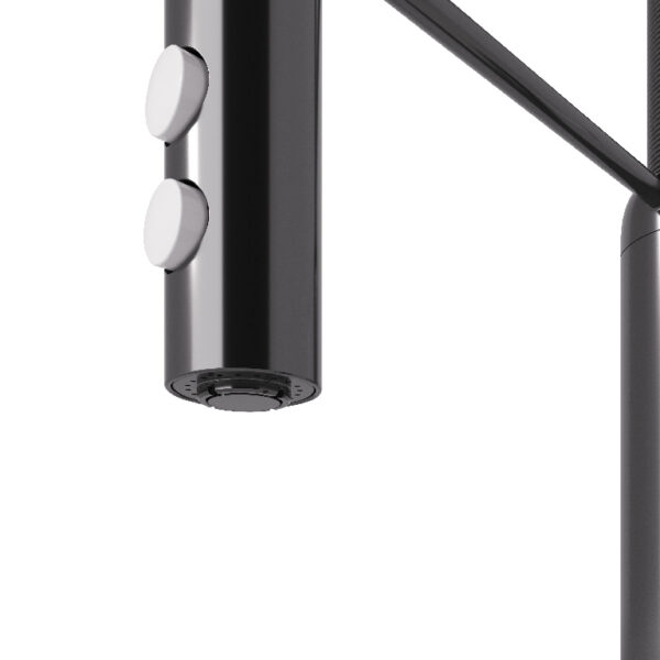 Baterie de bucatarie GoodHome Gevuina, crom negru, cartus ceramic 35 mm