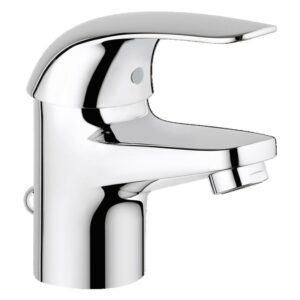 Baterie lavoar Grohe Swift, monocomanda, cartus ceramic 35 mm, regulator de debit
