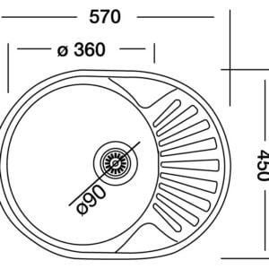 Chiuveta inox Liebig, rotunda, otel inoxidabil