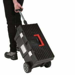 Cutie mobila pentru scule, maner reglabil, roti