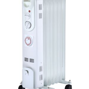 Radiator cu ulei, 6 elementi, putere 1500 W, alb