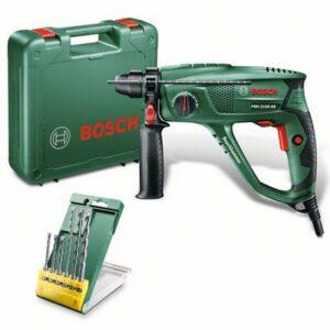 Ciocan rotopercutor Bosch cu 3 functii, 550 W + accesorii