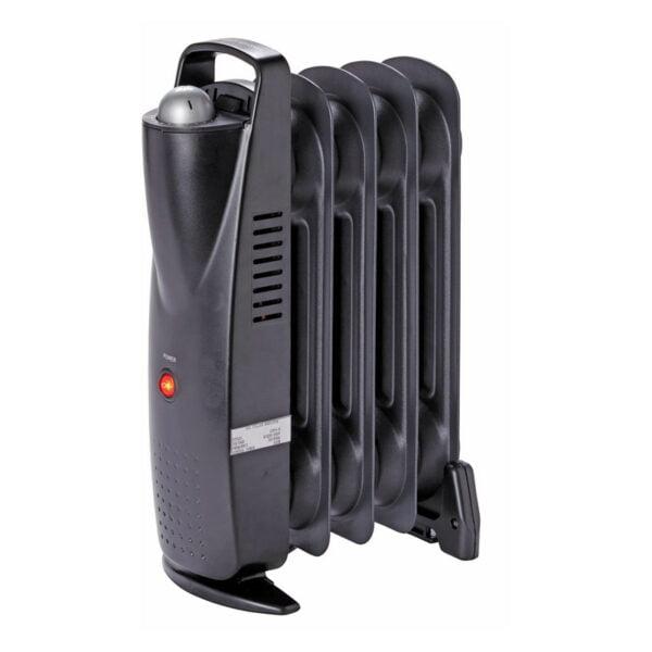 Mini radiator pe ulei, 5 elementi, 500 W, termostat ajustabil