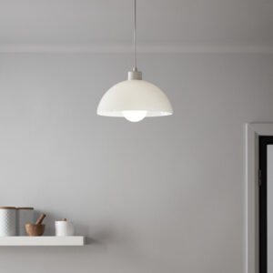 Pendul sfera GoodHome Songor, alb, 1xE27, design modern