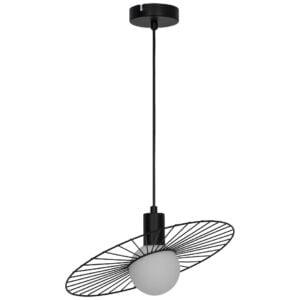 Pendul spot GoodHome Odzala, negru, 1xG9, design modern, finisaj mat