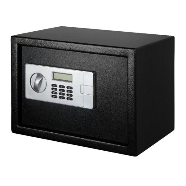 Seif digital LCD Smith & Locke, 2 chei pentru deschidere, negru, 25 x 35 x 25 cm