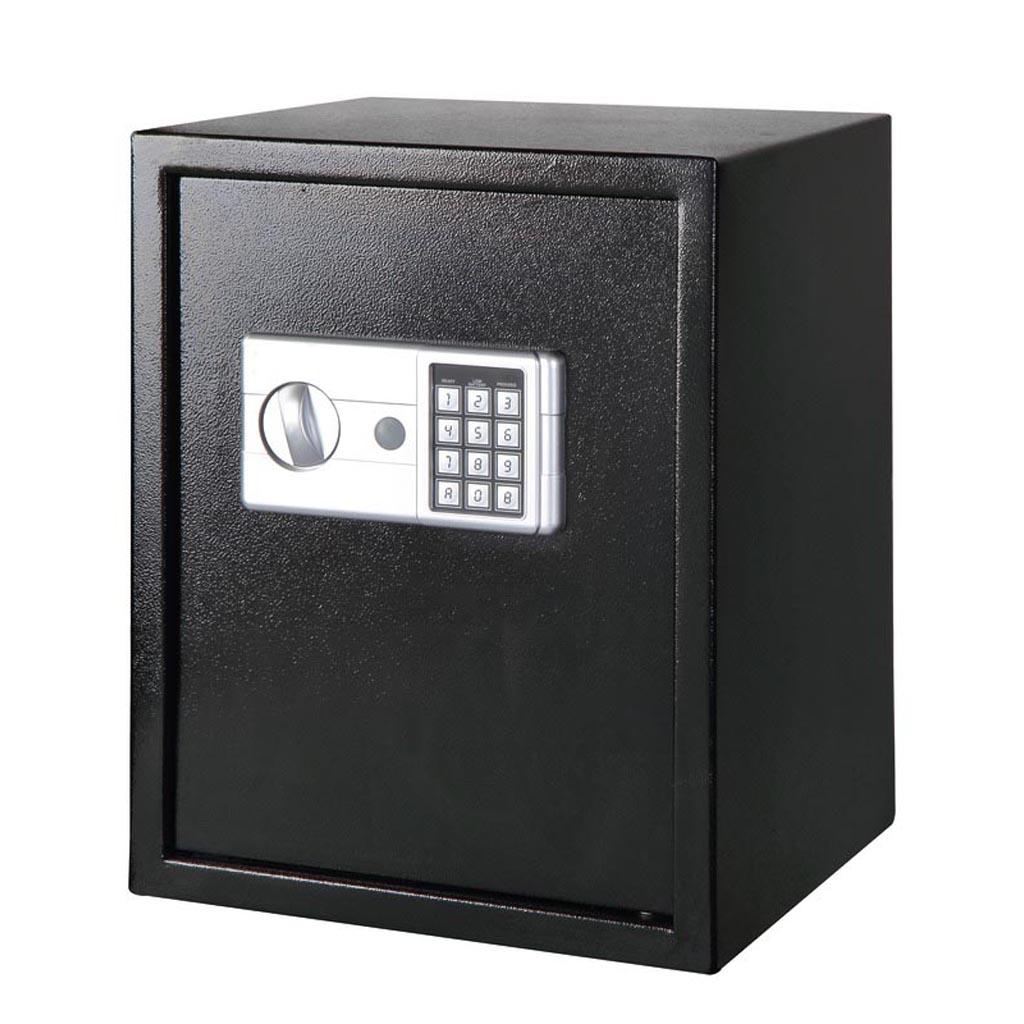 Seif digital Smith & Locke, negru, 2 chei deschidere urgenta, 40 x 35 x 35 cm