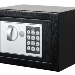 Seif electronic Smith & Locke, 2 chei pentru deschidere, negru, 17 x 23 x 17 cm