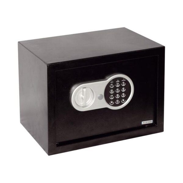 Seif electronic digital Smith & Locke, negru, 2 chei deschidere urgenta, 25 x 35 x 25 cm