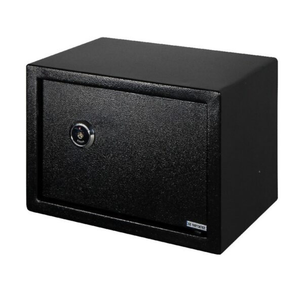 Seif mecanic Smith & Locke, pentru birou, negru, 3 chei, 25 x 35 x 25 cm