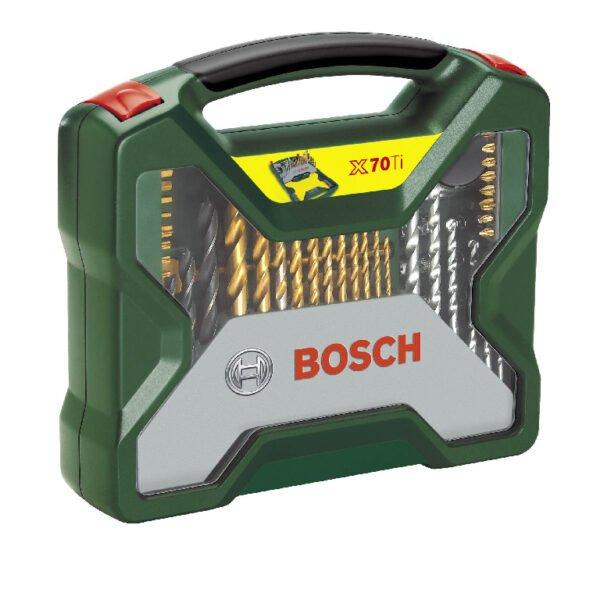 Set mixt 70 de accesorii Bosch, burghie, capete surubelnita, capete tubulare