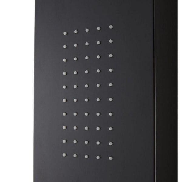 Panel de dus hidromasaj,Cooke&Lewis, Magda, 167 x 17 cm,termostat, aluminiu, negru