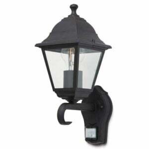 Lampa de exterioara Blooma, cu senzor, 1 x 60 W, 19 x 14 x 31 cm, negru