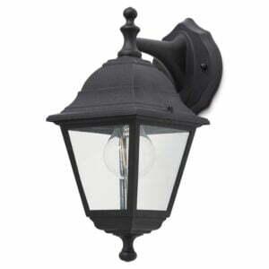 Lampa de exterior Blooma, 1 x 60 W, 19 x 14 x 31 cm, negru