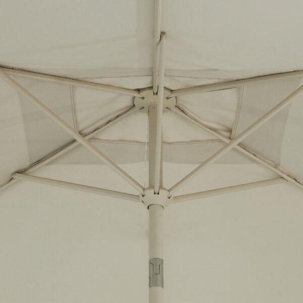 Umbrela de gradina Cara, nisip, 249 x 197 x 299 cm