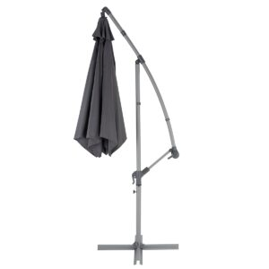 Umbrela tip lalea, gri, 253 x 300 cm, sac de pastrare